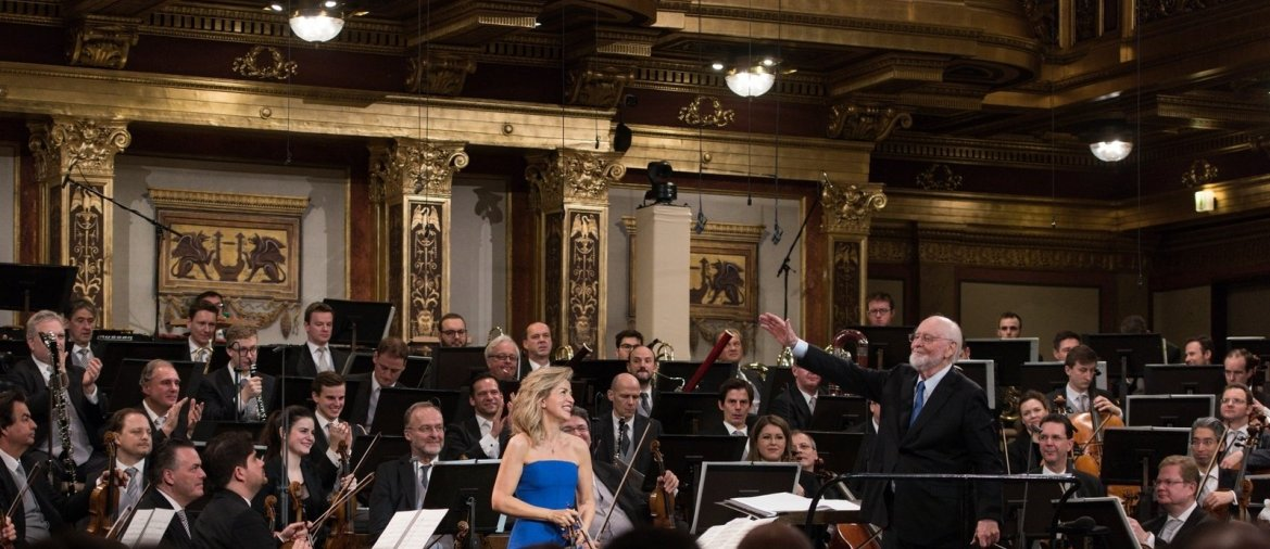 Umjubelt: John Williams und Anne-Sophie Mutter im Wiener Musikverein. - © Terry Linke