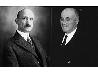 Am 9. Mai 1950 gibt der französische Außenminister Robert Schuman (1886–1963) eine Regierungserklärung ab. Sie fußt auf den Überlegungen des Unternehmers und Vordenkers Jean Monnet (1888-1979). - © Public Domain: Bibliothèque nationale de France / Abbie Rowe. White House Photographs - John F. Kennedy Presidential Library and Museum, Boston