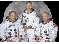 Die Crew von Apollo 11: Neil Armstrong, Michael Collins, Buzz Aldrin - © NASA