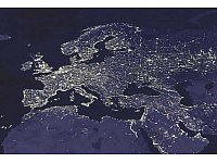 Europy by night - © DMSP & NASA.