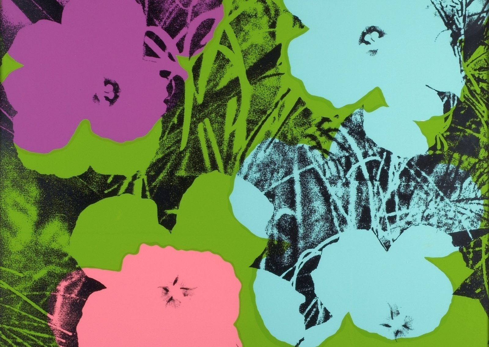 "Ausschnitt aus Andy Warhols ""Flowers"" (1970). - © The Andy Warhol Foundation for the Visual Arts/Bildrecht"