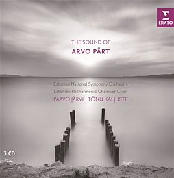 Järvi, Kaljuste: The sound of Arvo Pärt Erato, 3 CDs, ca. 15 Euro.