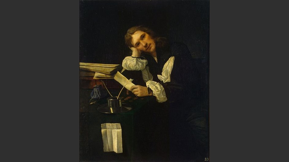 Ein Markenzeichen der Melancholie der bildenden Kunst: Der in die Hand gest&uuml;tzte Kopf: Michael Sweerts, &#34;Junger Mann (Selbstbildnis)&#34; (1656) - &copy; Gemeinsfrei, <a href=&#34;https://commons.wikimedia.org/wiki/File%3AMichael_Sweerts_-_Portrait_of_a_Young_Man_&#34; target=&#34;_blank&#34;>https://commons.wikimedia.org/wiki/File%3AMichael_Sweerts_-_Portrait_of_a_Young_Man_</a>(Self-portrait%3F).jpg&nbsp;