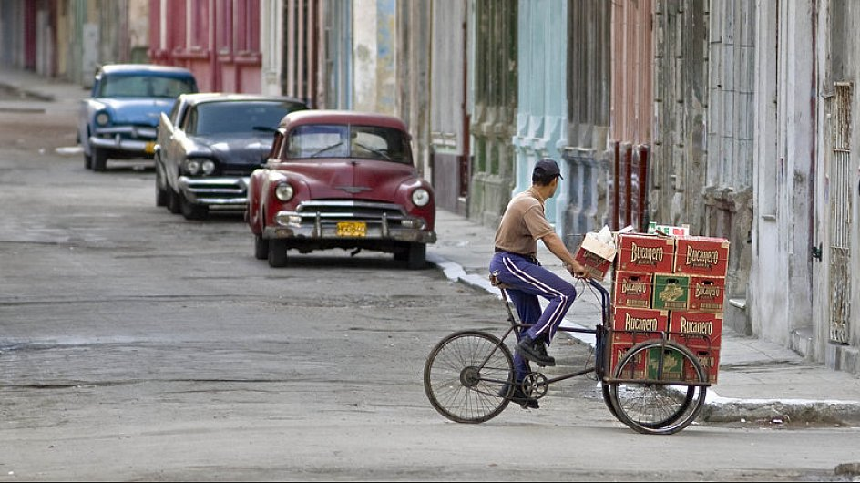 Biertransport in Havanna. Foto: Günter Grüner