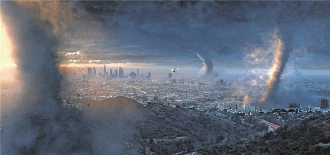 "Zerstört wie Sodom: Die Natur vernichtet Los Angeles in Roland Emmerichs Blockbuster ""The Day After Tomorrow"". - © Imago/EntertainmentPictures"